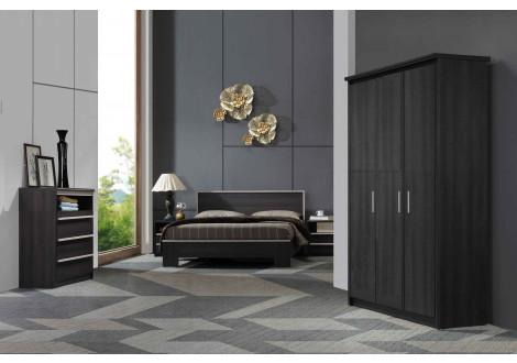 Chambre 4 Pièces ARTHUR chêne gris
