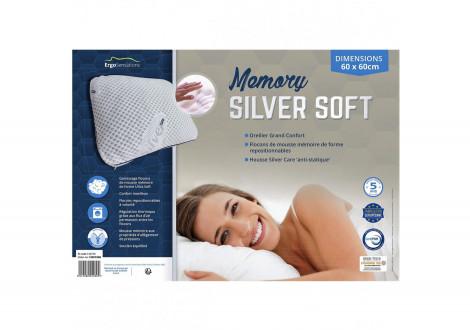Oreiller 60x60 SILVER SOFT MEMORY blanc