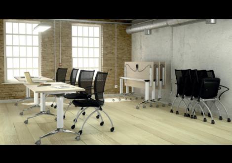Table de réunion pliante & mobile L180