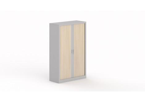 Armoire métallique 2 portes à rideau STEEL 160