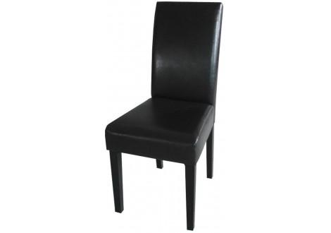 Chaise TALIA PVC noir