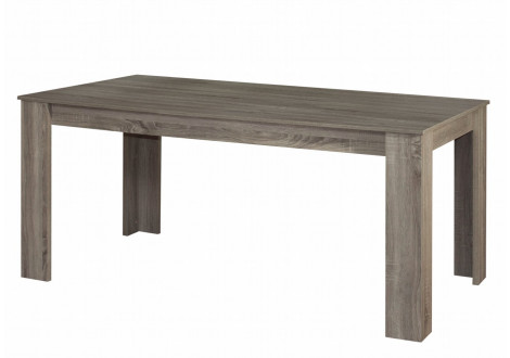 Table rectangulaire MOKA 170x90 cm chêne grisé