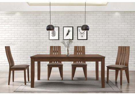 Table SEATTLE bois massif teinté CAPUCCINO