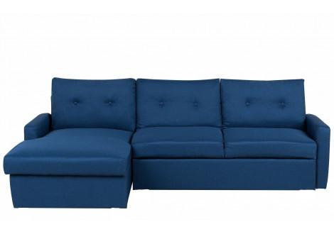 Canapé d'angle réversible RIMINI tissu bleu marine