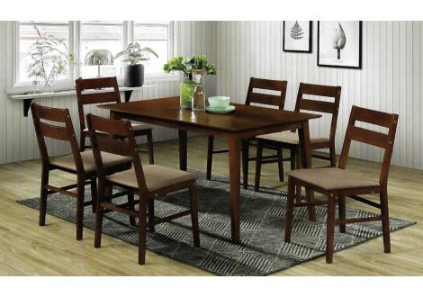 Ensemble Table + 6 chaises VIGO CAPPUCINO