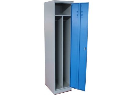 Vestiaire métallique industrie salissante 1 porte gris/bleu (VS-1S)