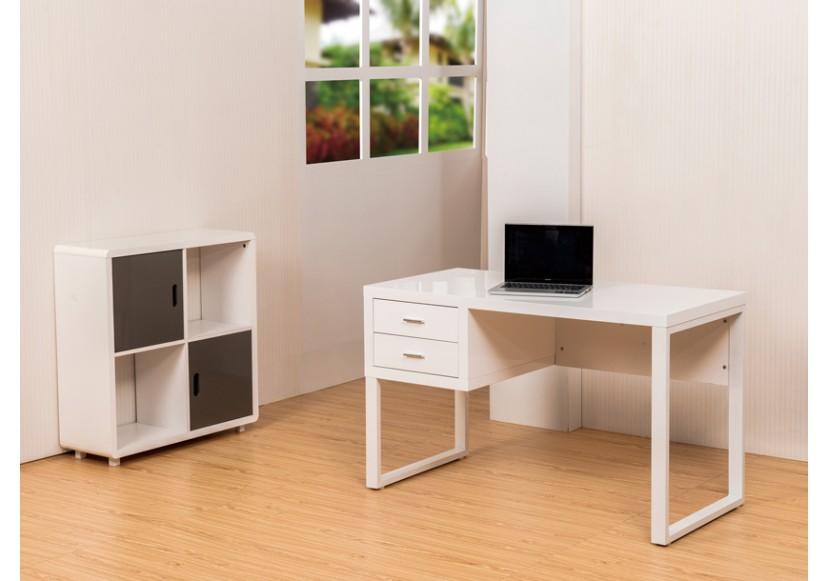 Bureau pulp 2 tiroirs blanc bureaux caissons bureau for Bureau 8 tiroirs