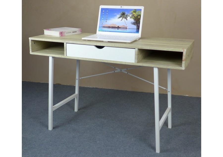 Bureau informatique oslo chêne clair blanc bureaux caissons