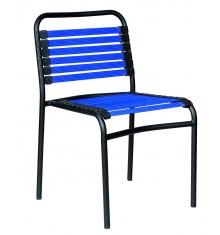 Chaise visiteur  PALERME noir/bleu