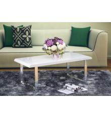 Table de salon  NOVA blanc laqué