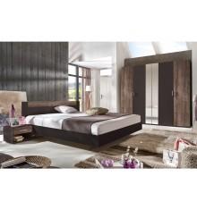 Chambre 4 Pièces MILANO chêne châtaigne/gris-lave