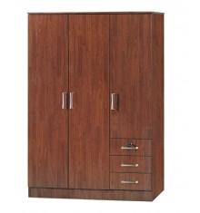 Armoire 3 portes/3 tiroirs CHERRY merisier
