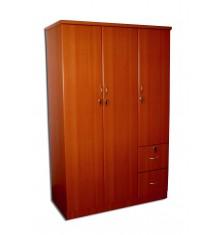 Armoire 3 portes/2 tiroirs VICTORIA merisier