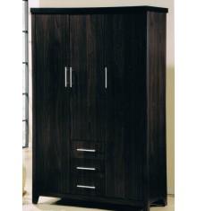 Armoire 3 portes/3 tiroirs TANIA wengé