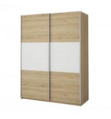 Armoire 2 portes coulissantes ECO 170 chêne/blanc