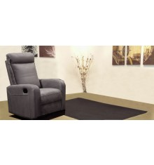 Fauteuil 1 place relax BERGAME tissu gris