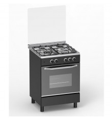 Cuisinière 4 feux gaz MAGIC POINT GM60 noir