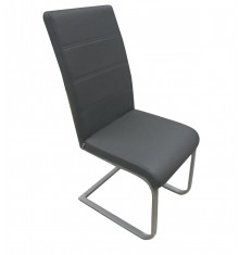 Chaise GALIA PVC gris