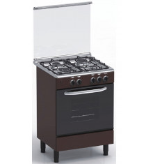 Cuisinière 4 feux gaz MAGIC POINT GM60 marron