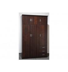 Armoire 3+3 portes/2 tiroirs HELENA wengé