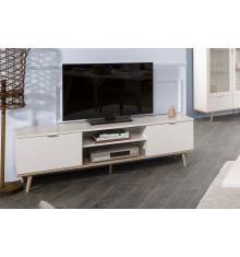 Meuble TV GOTEBORG blanc/chêne sonoma