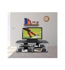 Meuble TV TECHNO noir/argent