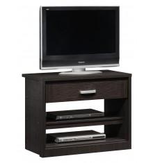 Meuble TV CURTIS 1 tiroir 2 étagères wenge