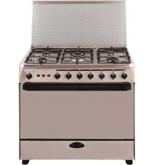Cuisinière MAGIC POINT 5 Feux gaz - 90 x 60 cm Inox