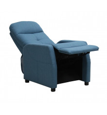 Fauteuil relaxation releveur PORTO tissu bleu