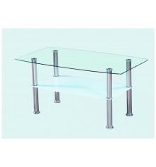 Table de salon ELISA transparent/blanc