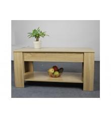 Table basse LIFT Blanc/plateau Chêne