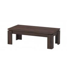 Table basse TURINI acacia noyer relief