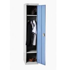 Vestiaire 1 porte industrie propre métallique coloris gris et bleu VS-1P