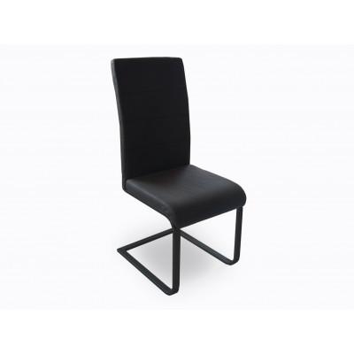 Chaise GALIA PVC noir