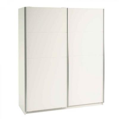 Armoire 180 CORDOBA/GALA 2 portes coulissantes blanc brillant