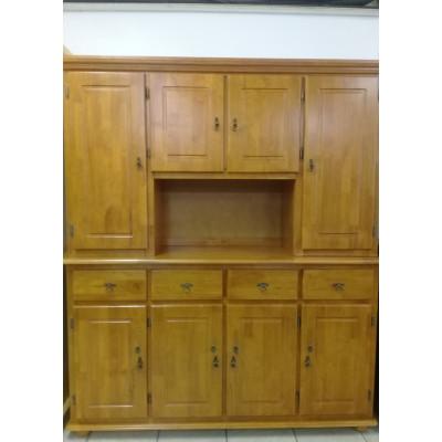 Buffet vaisselier 8 portes/4 tiroirs DUBAI en bois massif merisier
