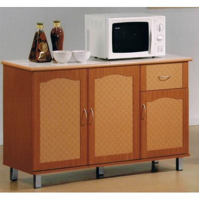 Buffet bas 3 portes/1 tiroir BAHIA merisier