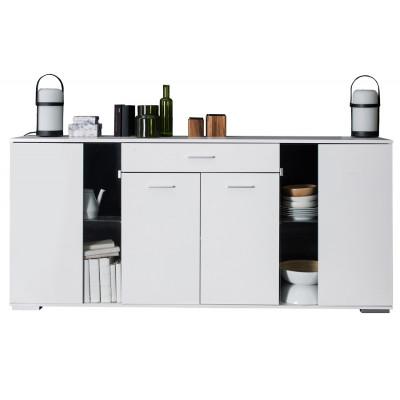 Buffet-bas 4 portes/1 tiroir ICY blanc mat