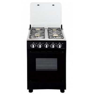Cuisinière 4 feux gaz MAGIC POINT noir (C20)