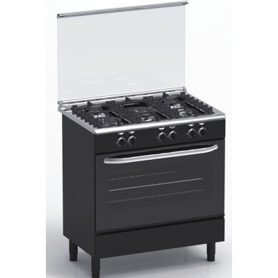 Cuisinière 5 feux gaz MAGIC POINT GN85 noir