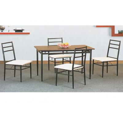 Ensemble Table + 4 chaises DANA blanc/chêne