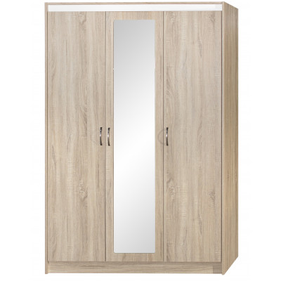 Armoire 3 portes/1 miroir REVERSO chêne sonoma