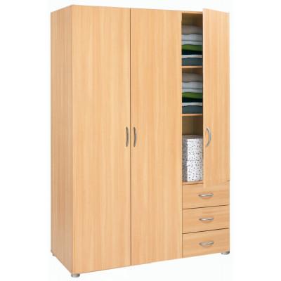 Armoire 3 portes/3 tiroirs LOL hêtre