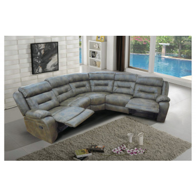Canapé d'angle relax BOSTON PVC gris