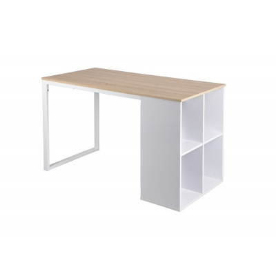 Bureau informatique SVEN chêne/blanc