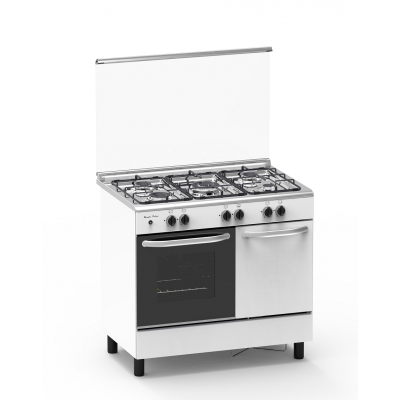 Cuisinière butanette 5 feux gaz MAGIC POINT blanc (GN95)