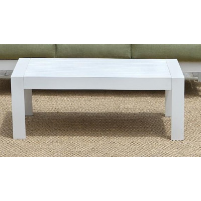 Table basse de jardin PATIO alu blanc