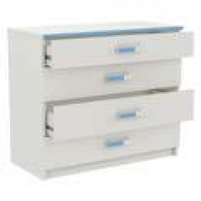 Commode 3+1 tiroirs SWITCH blanc