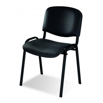 Chaise visiteur PALERME Noir