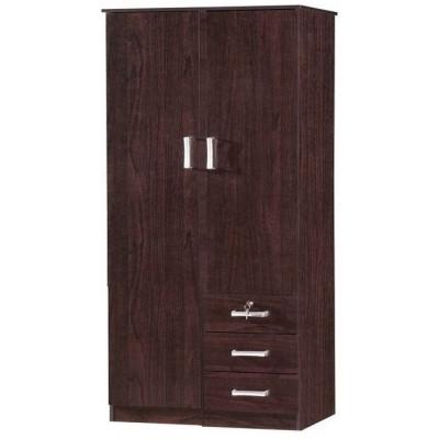 Armoire 2 portes/3 tiroirs  CHERRY wengé